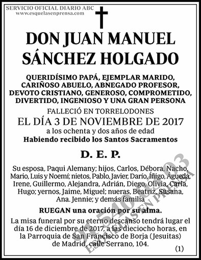 Juan Manuel Sánchez Holgado